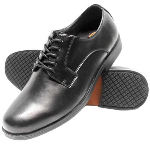 Wide Width Black Oxford Non Slip Dress Shoe