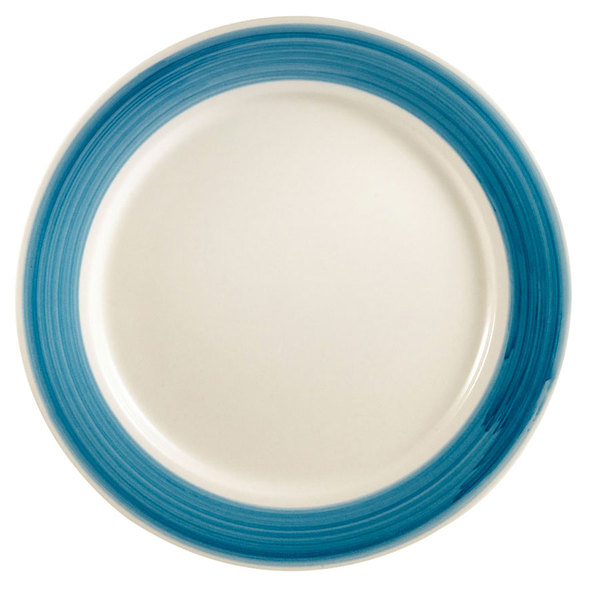 "CAC R-6-BLU Rainbow Plate 6 1/2"" - Blue - 36/Case Main Image 1"