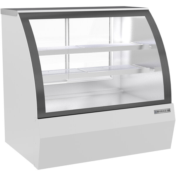 """Beverage-Air CDR4HC-1-W-D 49 1/4"""" Curved Glass White Dry Bakery Display Case Main Image 1"""