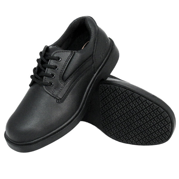 Black Oxford Steel Toe Non Slip Shoe