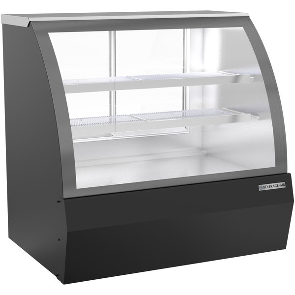 """Beverage-Air CDR4HC-1-B-D 49 1/4"""" Curved Glass Black Dry Bakery Display Case Main Image 1"""