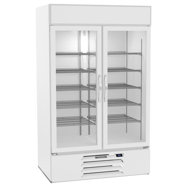 "Beverage-Air MMR44HC-1-W-WINE MarketMax 47"" White Glass Door Wine Refrigerator Main Image 1"