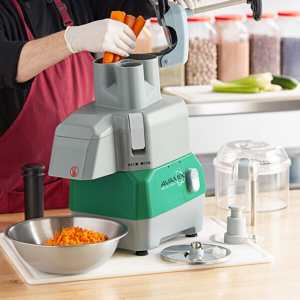Avamix Revolution CFBB342DC Combination Commercial Food Processor with 3 qt. Clear Plastic Bowl and Continuous Feed Attachment - 120V, 1 hp Main Image 4