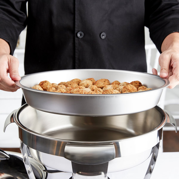 Vollrath 46862 6 Qt. Stainless Steel Round Food Pan Main Image 6