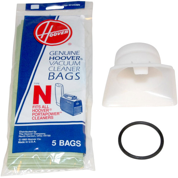 Hoover 4010050n Type N Pack Of Disposable Vacuum Bags And Adapter Kit For Porta Lightweight Vacuums