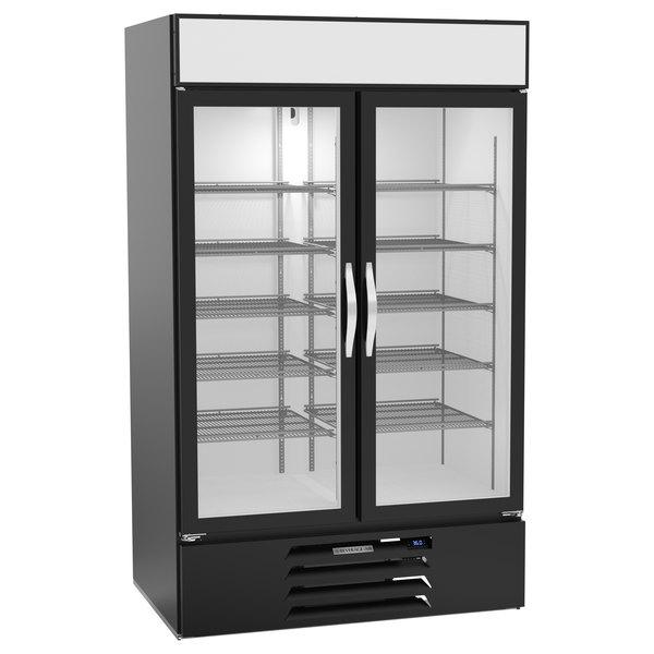 "Beverage-Air MMR44HC-1-B-WINE MarketMax 47"" Black Glass Door Wine Refrigerator Main Image 1"