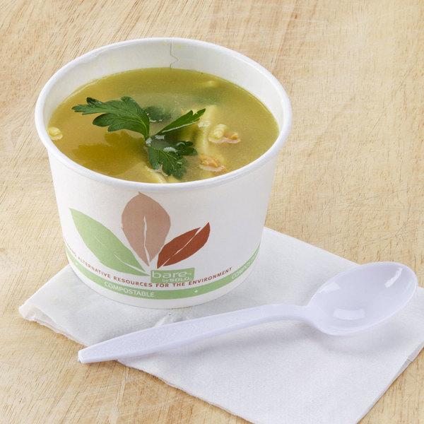 Dart Solo V512PL-JF522 Leaf Print 12 oz. Eco-Forward Paper Soup / Hot Food Cup - 1200/Case