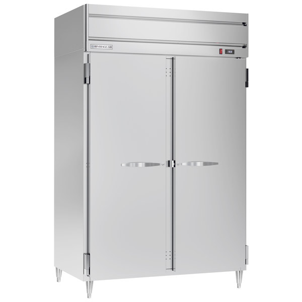 "Beverage-Air HFPS2-1S Horizon Series 52"" Solid Door All Stainless Steel Reach-In Freezer"
