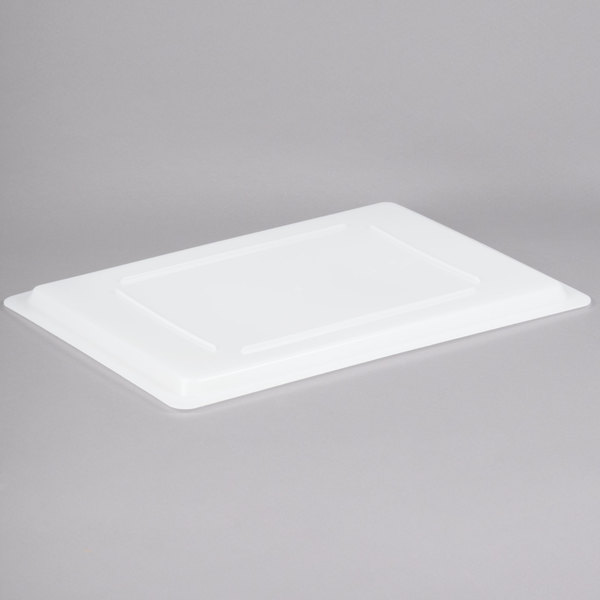 """Cambro 1826CP148 26"""" x 18"""" White Poly Flat Lid for Food Storage Box Main Image 1"""