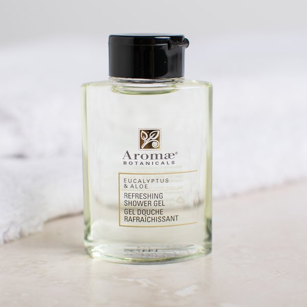 Aromae Botanicals Eucalyptus and Aloe 1 oz. Refreshing Shower Gel - 160/Case Main Image 6