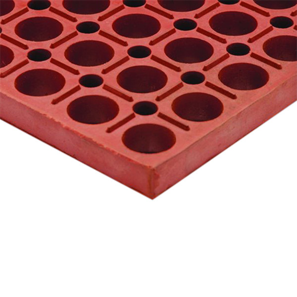 "Cactus Mat 4420-RS VIP Duralok 3' x 5' Red Grease-Resistant Anti-Fatigue Anti-Slip Floor Mat - 3/4"" Thick"