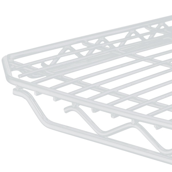 "Metro 1836QW qwikSLOT White Wire Shelf - 18"" x 36"""