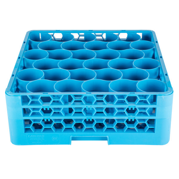 Carlisle RW30-114 OptiClean NeWave 30 Compartment Glass Rack with 2 Extenders