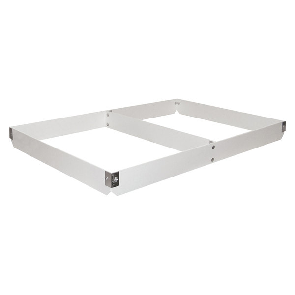 "MFG Tray 176801-1537 Two-Section Full Size Fiberglass Pan Extender Divided Lengthwise - 5"" High"