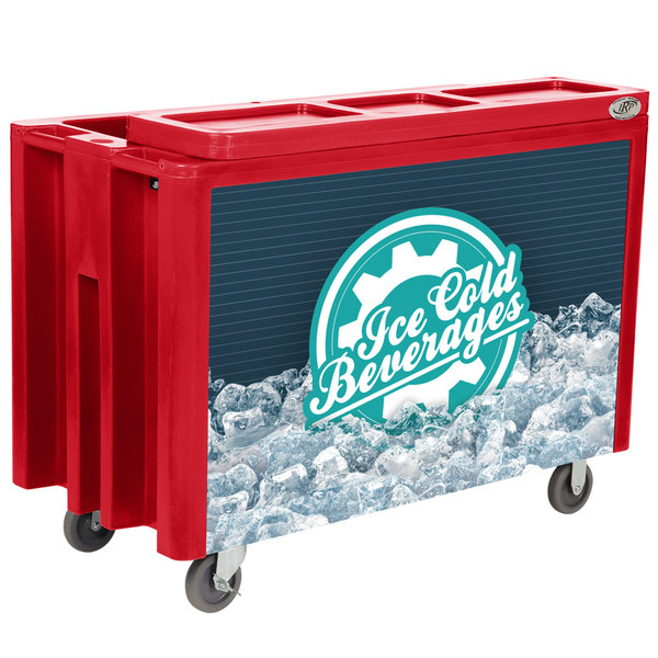 Irp Red Arctic 3501538 Mobile 288 Qt Cooler With Casters