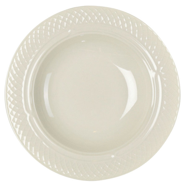 Homer Laughlin 3567000 Gothic 11.25 oz. Ivory (American White) China Soup Bowl - 24/Case
