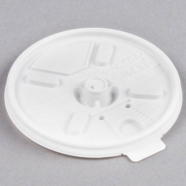 Dart 10FTL White Lift'n'Lock Lid - 100/Pack Main Image 1