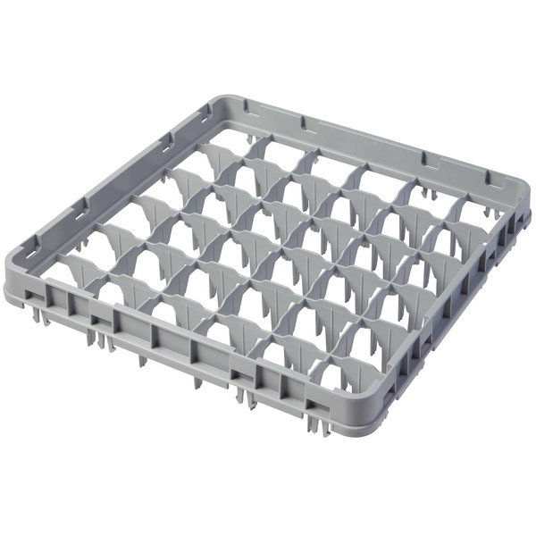 """Cambro 36E1151 Soft Gray 36 Compartment Full Size Full Drop Camrack Extender - 19 5/8"""" x 19 5/8"""" x 2"""" Main Image 1"""