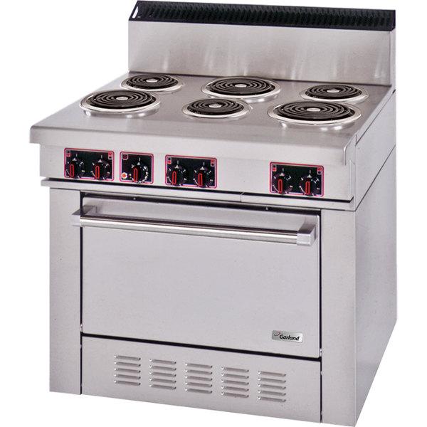 Garland S686 Sentry Series 6 Open Burner Electric Restaurant Range with Standard Oven - 240V, 3 Phase, 15 kW