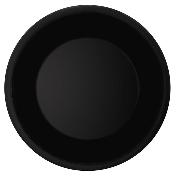 "GET WP-6-BK 6 1/2"" Black Elegance Wide Rim Black Plate - 48/Case"