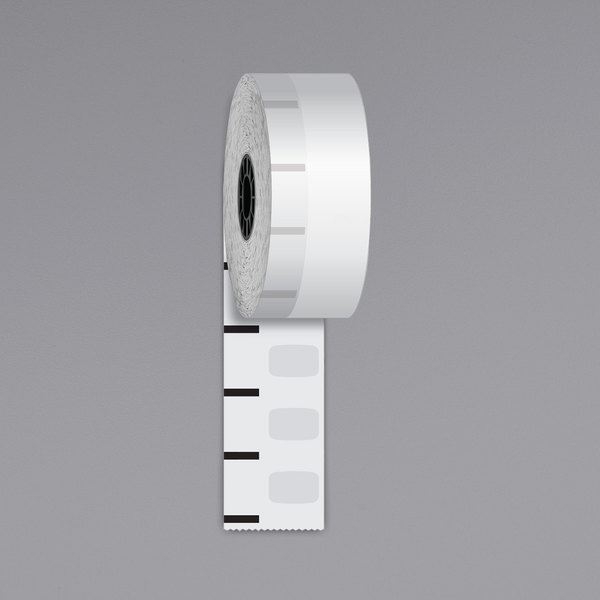 """Iconex 1 1/2"""" x 270' Standard Sticky Media Linerless Receipt Paper Roll - 12/Case Main Image 1"""
