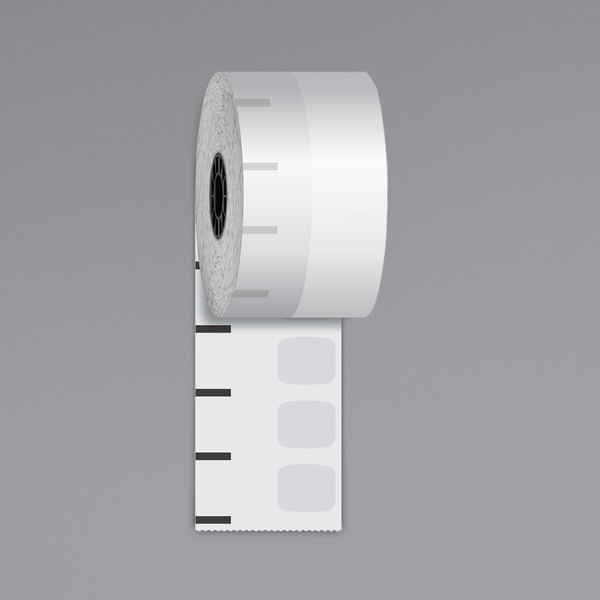 """Iconex 2 1/4"""" x 270' Standard Sticky Media Linerless Receipt Paper Roll - 12/Case Main Image 1"""