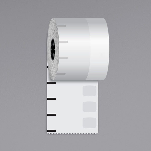 """Iconex 3 1/8"""" x 270' High-Tack Sticky Media Linerless Receipt Paper Roll - 12/Case Main Image 1"""