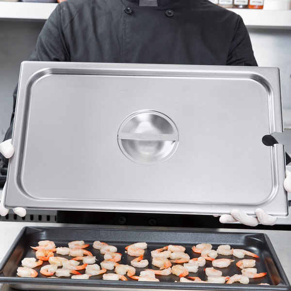 Vollrath 75210 Super Pan V Full Size Slotted Stainless Steel Steam Table / Hotel Pan Cover Main Image 2