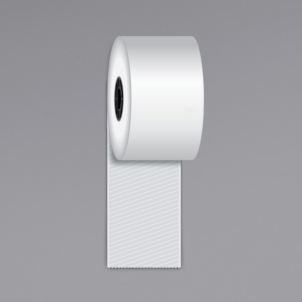 """Iconex 2 1/4"""" x 170' Full Tack Sticky Media Linerless Receipt Paper Roll - 12/Case Main Image 1"""