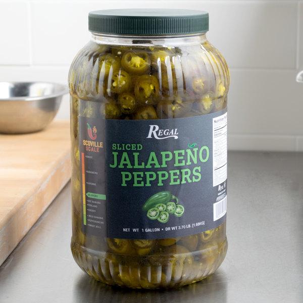 Regal Foods Nacho Jalapeno Slices 1 Gallon - 4/Case