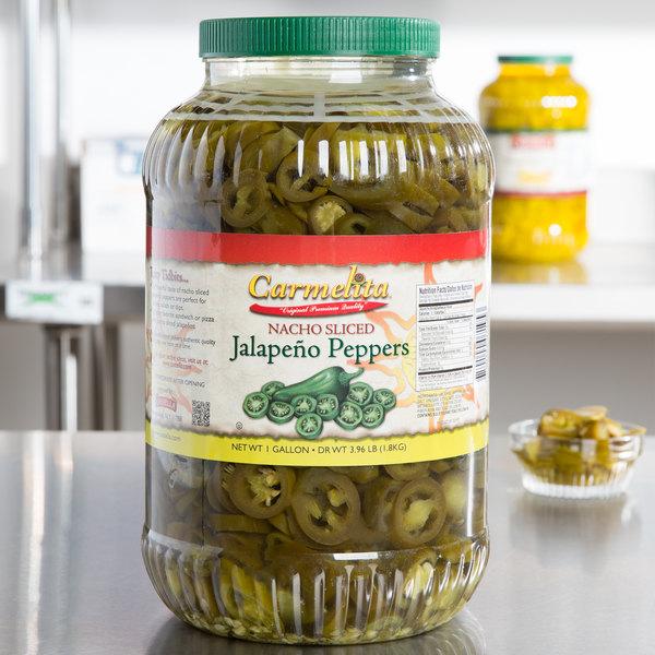 1 Gallon Nacho Jalapeno Slices - 4/Case