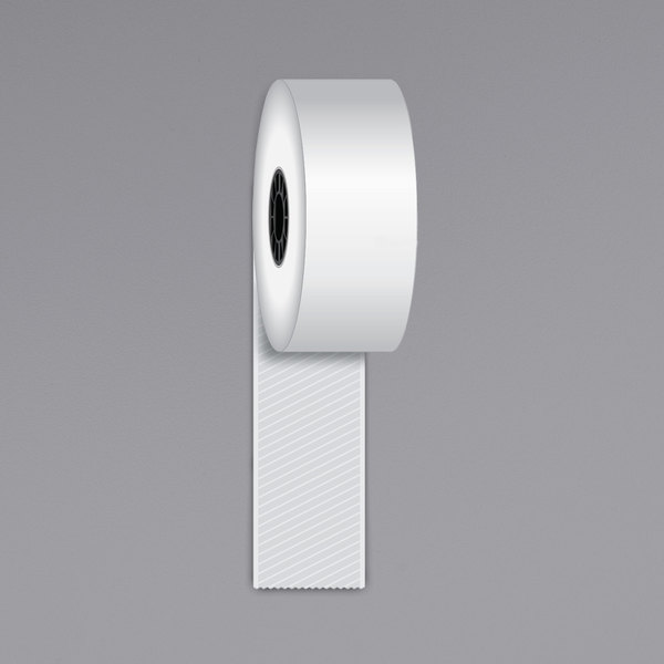 """Iconex 1 1/2"""" x 270' Full Tack Sticky Media Linerless Receipt Paper Roll - 12/Case Main Image 1"""