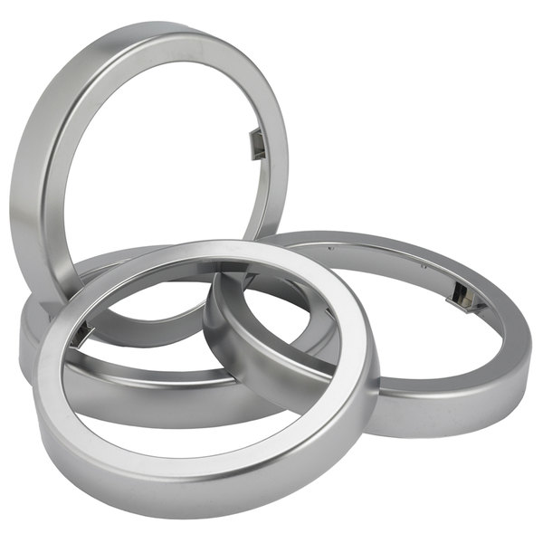 San Jamar C24XC EZ-Fit Metal Finish Rings - 2/Pack Main Image 1