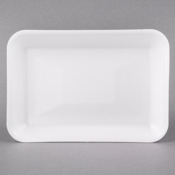 """Genpak 1002 (#2) Foam Meat Tray White 8 1/4"""" x 5 3/4"""" x 1"""" - 500/Case"""