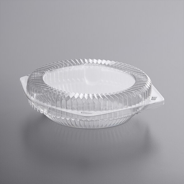 """Choice 6"""" Hinged OPS Plastic Shallow Pie Container Main Image 1"""