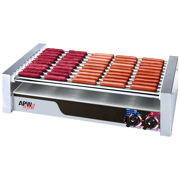 """APW Wyott HRS-20 Non-Stick Hot Dog Roller Grill 13""""W - Flat Top 120V Main Image 1"""