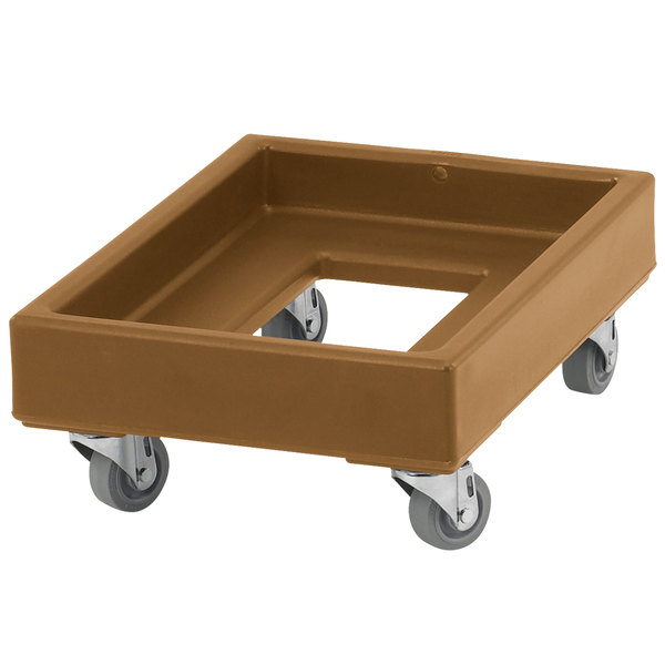 Cambro CD1420157 350 lb. Coffee Beige Camdolly Milk Crate Dolly Main Image 1