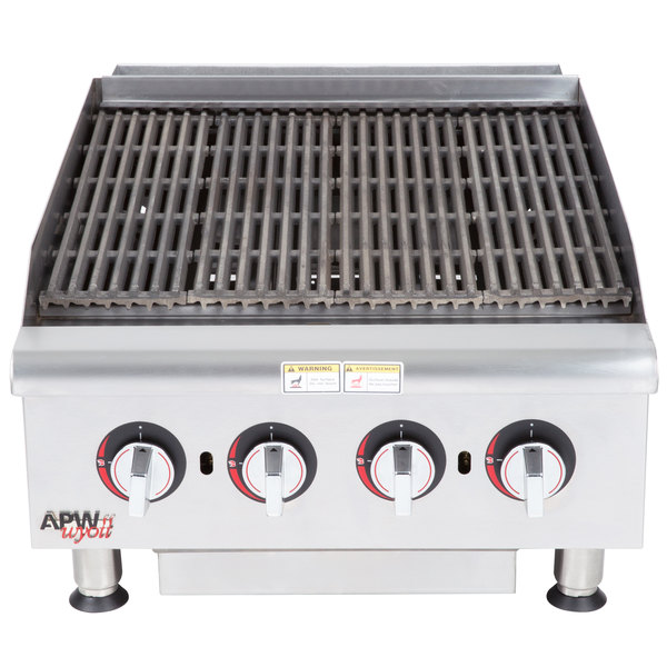 "APW Wyott HCB-2424i Natural Gas 24"" HD Cookline Radiant Charbroiler - 80,000 BTU"