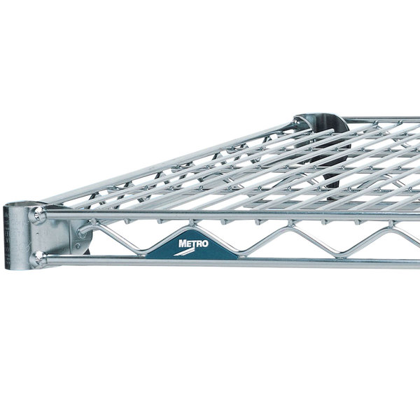 "Metro 1442BR Super Erecta Brite Wire Shelf - 14"" x 42"""