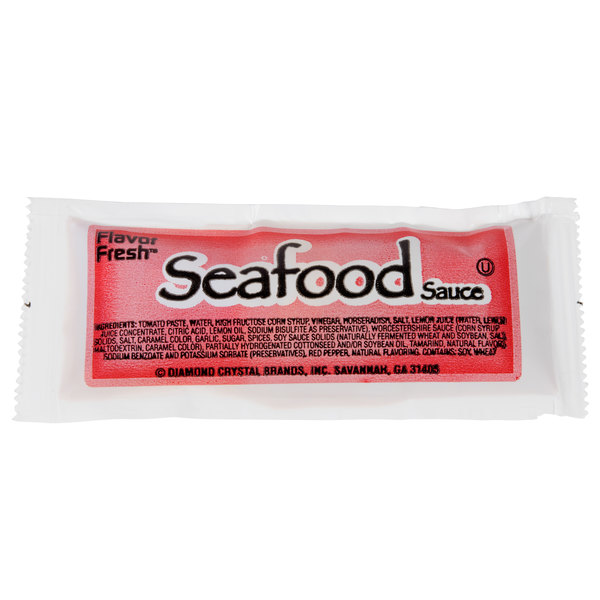 Seafood Sauce - (200) 12 Gram Portion Packets / Case - 200/Case