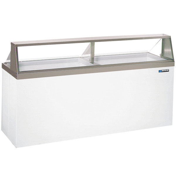 "Master-Bilt DD-88 91"" Straight Glass Ice Cream Dipping Cabinet"