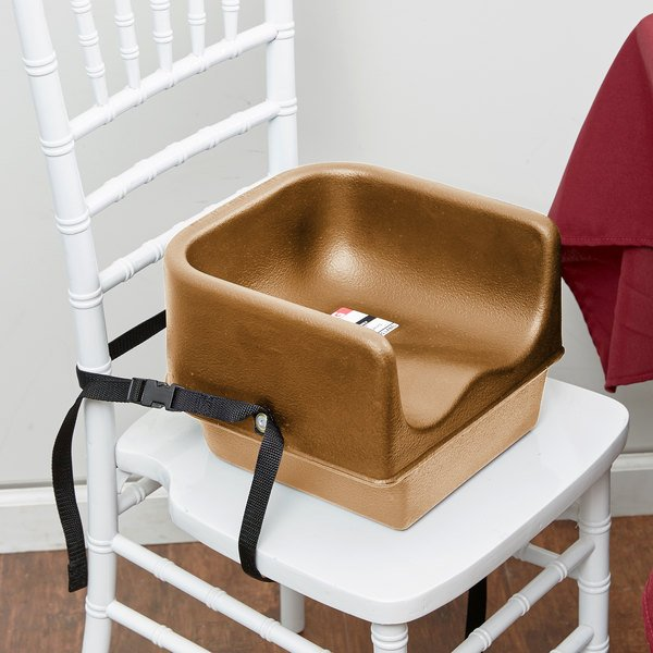 Cambro 100BCS157 Beige Plastic Booster Seat - Single Seat with Strap