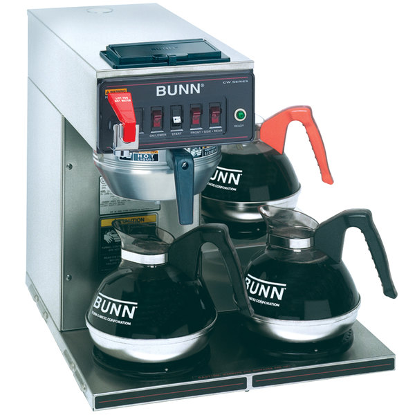 Bunn 12950.0409 CWTF-DV Automatic 12 Cup Coffee Brewer with 3 Lower Warmers and Stainless Steel Funnel - Dual Voltage Main Image 1