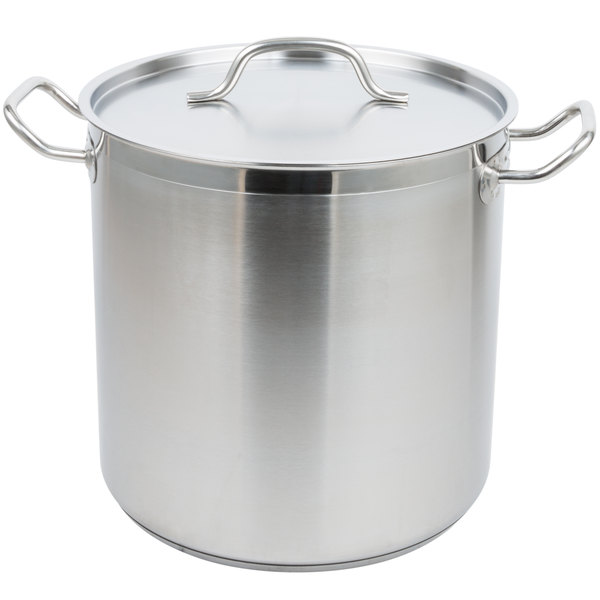 Vollrath 3504 Optio 18 Qt. Stainless Steel Stock Pot with Cover