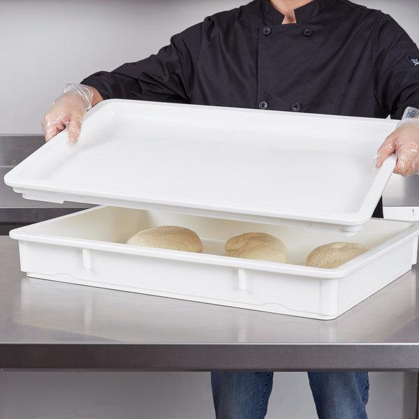 "Cambro DBC1826P148 18"" x 26"" White Pizza Dough Proofing Box Lid"