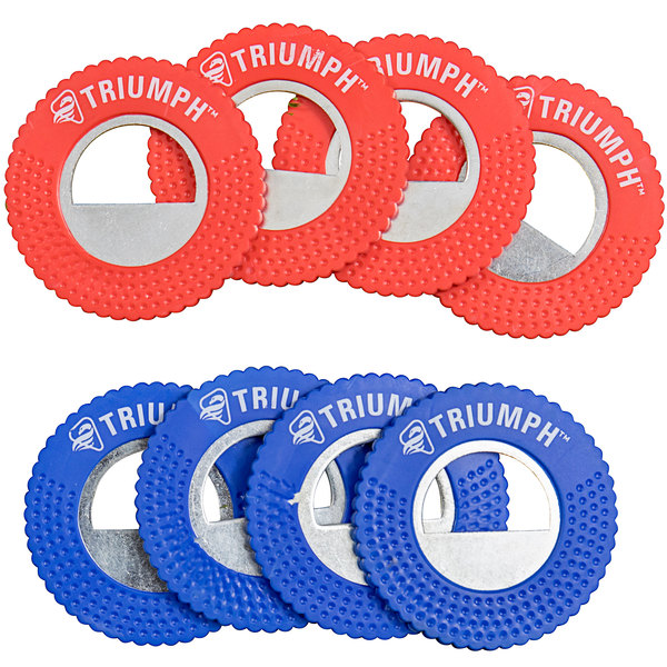 Triumph 12-0080-2 Red and Blue Rubber Coated Steel Replacement Washers - 8/Set Main Image 1