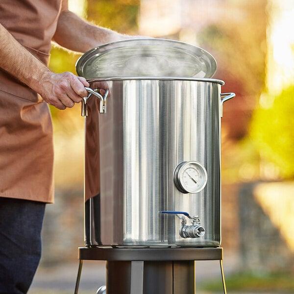 Backyard Pro BW40KIT 40 Qt. / 10 Gallon Stainless Steel Brewing Pot Kit Main Image 5