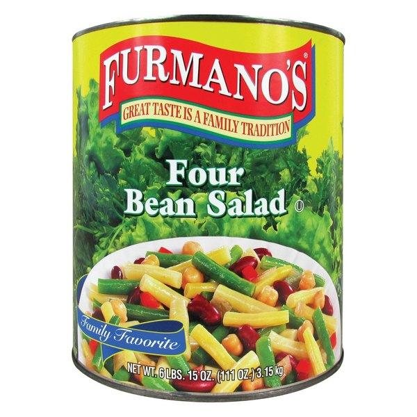 Furmano's #10 Can Four Bean Salad - 6/Case