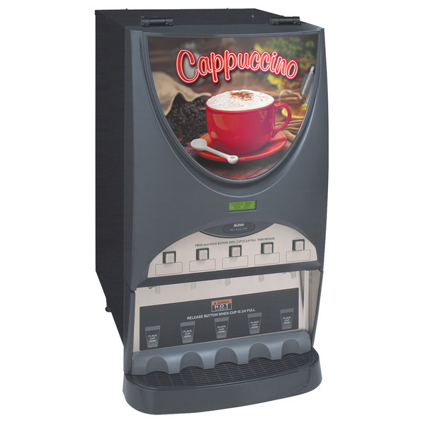 Bunn 38100.0050 iMIX-5S+ Silver Series Plus Hot Beverage System - 5 Hoppers