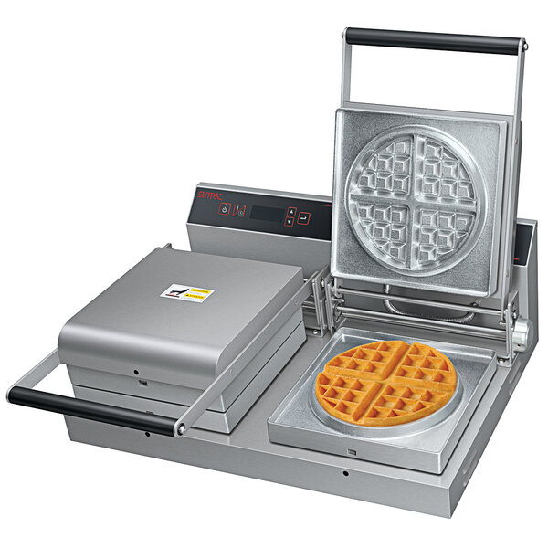 Hatco SNACK-2 Double Snack System with Belgian Waffle Plate and 1 Plate Choice - 120V, 1800W Main Image 1